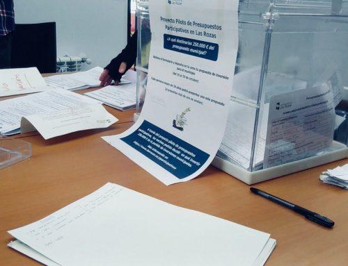 Éxito de participación en la presentación de propuestas para los primeros Presupuestos Participativos de Las Rozas