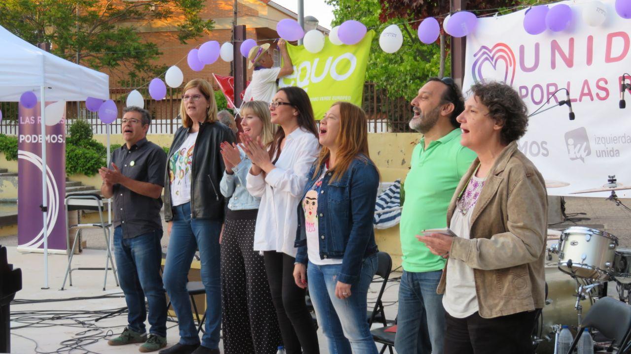Se presenta la candidatura de Unidas por Las Rozas con una fiesta en Las Matas donde no faltó la música y la política